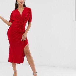 Club l London twisty front maxi dress